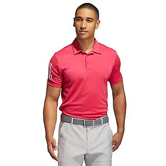 adidas Golf Mens 3-Stripe Basic Mid-Weight Stretch Polo Shirt