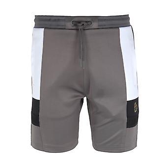 Luke 1977 Hod Colour Block Grey Sweat Shorts