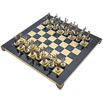 The Manopoulos Greek Mythology Chess Set with Wooden Case
