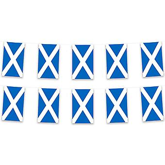 Pack van 3 Schotland Bunting 15m St Andrew Polyester Fabric Country National