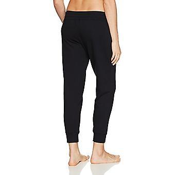 Merk - Mae Women's Loungewear Wide Waist Jogger Pant, Zwart, S