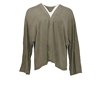 LOGO van Lori Goldstein Women's Sweater Dolman Sleeves Grey A375415
