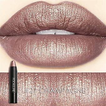 Waterproof Shimmer Lipstick Metal Style Cosmetic