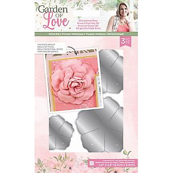 Crafter's Companion Garden of Love 3-D Layered Rose Dies