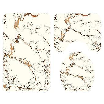 Conjunto criativo de cortina de chuveiro de chuveiro de mármore impermeável