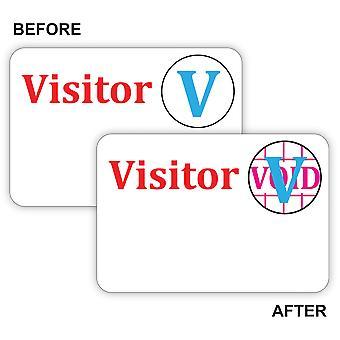 97004, Time's Up! Badge per visitatori auto-in scadenza, Badge Spot di un giorno, 3 x 2, 100/BX, 97004