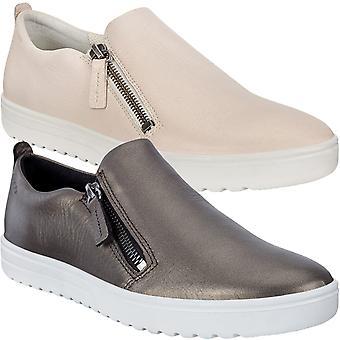 Ecco mujeres Fara cuero casual moda slip en Zip Up Zapatillas de zapatillas