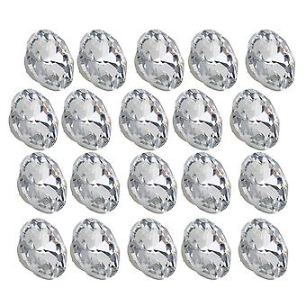 20pcs 22mm Size-1 Silver Color Round Crystal Sew Buttons