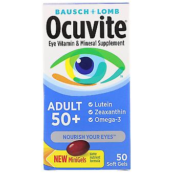 Bausch & Lomb, Ocuvite, Adult 50 +, Eye Vitamin & Mineral Supplement, 50 Soft Ge