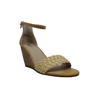 BC, urodzony w Kalifornii Womens Ogrodzenia Skórzane Peep Toe Casual Ankle Strap Sand ...