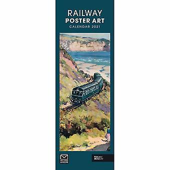 Otter House 2021 Slim Calendar-railway Poster Art