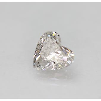 Certified 1.22 Carat G Color SI1 Heart Shape Natural Loose Diamond 7.28x6.96mm