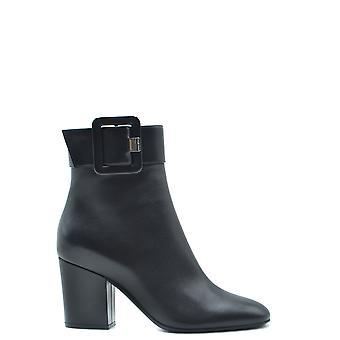 Sergio Rossi Ezbc040025 Femmes's Bottes de cheville en cuir noir