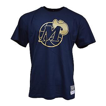 Mitchell & Ness Midas Tee Dallas Mavericks BMTRBW19104DMANAVY universal todos os anos masculinos t-shirt