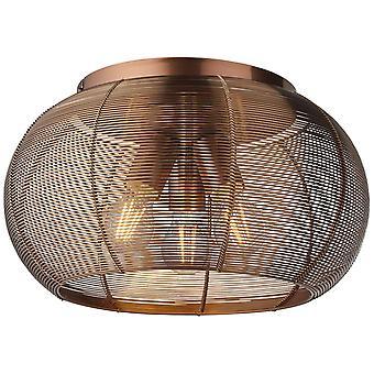 Lampada BRILLANTE Sambo Lampada da soffitto 40cm Marrone/Caffè | 3x A60, E27, 60W, g.f. lampade normali n. ent. | Per lampadine a LED