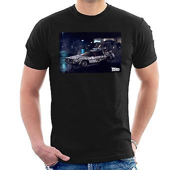Back to the Future Delorean Cinematic Design Men's T-Shirt