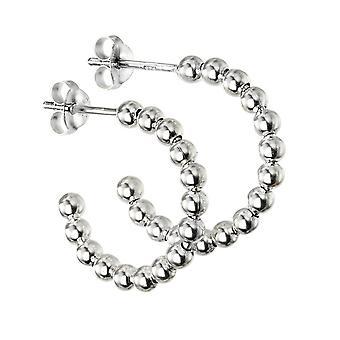 Beginnings Sterling Silver 3/4 Ball Hoop Earrings E5856