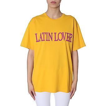 Alberta Ferretti 070701720029 Damen's gelbe Baumwolle T-shirt