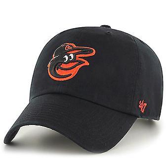 47 Brand Adjustable Cap-CLEAN UP Baltimore Orioles Black