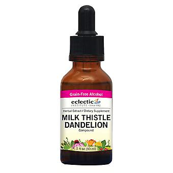 Eclectic Institute Inc Milk Thistle Voikukka, 2 oz alkoholilla
