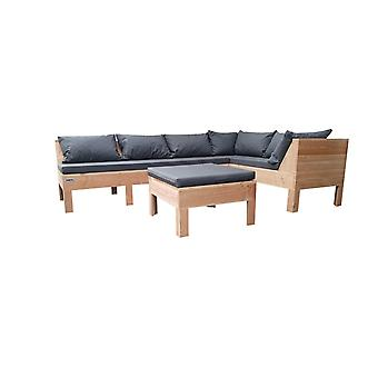 Wood4you - Loungeset 9 Douglas 200x240 cm - incl kussens GL-opstelling