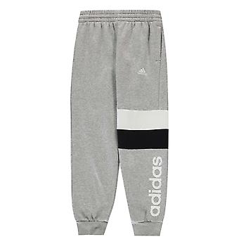 adidas Colour Block Panel Jogging Pants Junior Boys