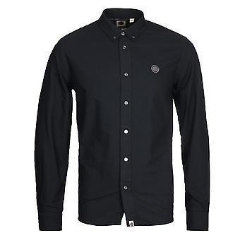 Ziemlich grün Classic Fit Oxford Schwarz Shirt