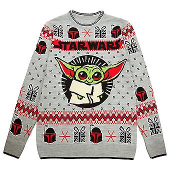 Star Wars The Mandalorian The Child Christmas Men's Knitted Jumper | Marchandises officielles