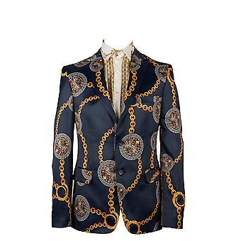 Oscar Banks Baroque And Chain Print Mens Blazer