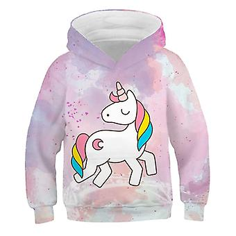 Unicorn Cartoon Print Sweatshirt för baby