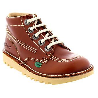 Unisex Kids Junior Kickers Kick Hi Core Leather Back To School Shoes