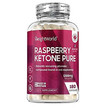 Raspberry Ketone Pure - 180 Capsules 1200mg  - 3 Month Supply -  Two capsules everyday