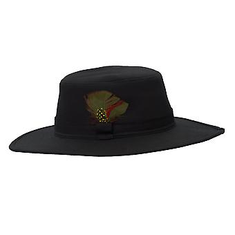 Walker and Hawkes - Unisex Wax Outback Large Brim Hat