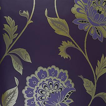 31-232 Dulux Purple Gold Flower Feature