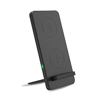 TechFlo المزدوج لفائف اللاسلكية لوحة الشحن السريع مع حامل تشي المعتمدة 5W - 10W