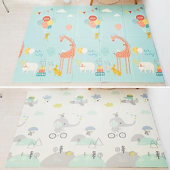 Alfombrilla del juego del bebé, impermeable, juego del piso suave, alfombra plegable del gateo, niño