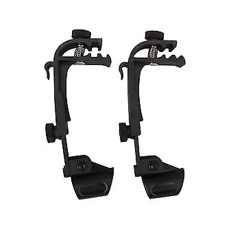 2 x Microphone de batterie réglable Mic Clip Rim Snare Mount Shockproof Clamp