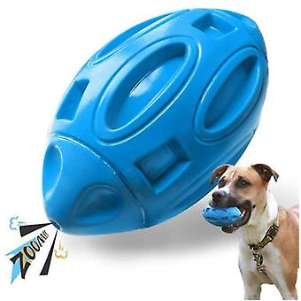 Pet Toy Dog Toy Rugby Rubber Wear-resistant Bite-resistant Ball Cross-border Toy