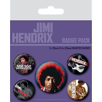 Jimi Hendrix Experience Badge Set (Pack of 5)