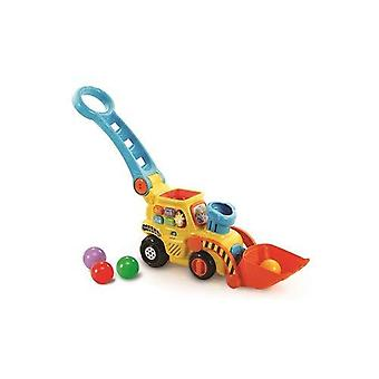 Vtech pop e drop digger| empurrão educacional ao longo escavador para | crianças presente de brinquedo por 12 meses a 2 3