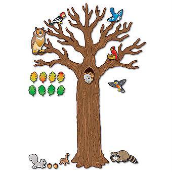 Großer Baum mit Tieren Bulletin Board Set