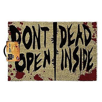 The Walking Dead Dont Open Dead Inside Door Mat