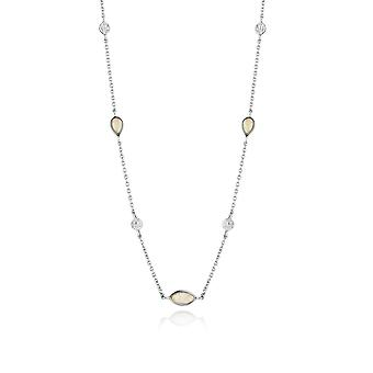 Ania Haie Silver Rhodium Plated Opal Colour Necklace N014-04H