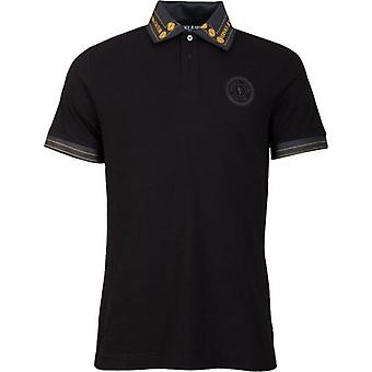 Versace Jeans Couture Gold Logo Print Collar Polo Shirt