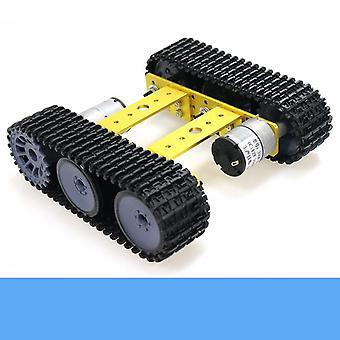 Birleştirilmemiş Akıllı Paletli Robot Eğitimi Mini Tp100 Metal Rc Tank Şasi Kiti