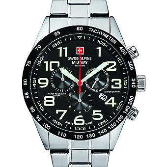 Mens Watch Swiss Alpine Military 7047.9137, Quartz, 43mm, 10ATM