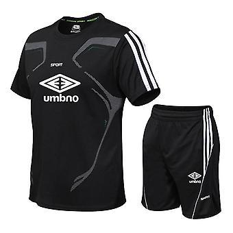 ספורט כדורגל גברים&s חוצות Futbol אימון חולצת טריקו + מכנסיים קצרים
