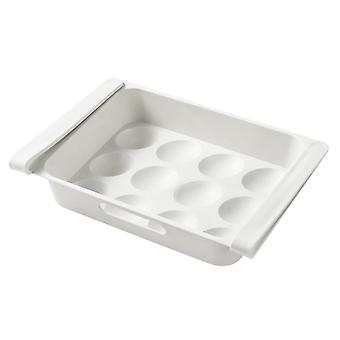 Köksförvaringslåda fodral, kylskåp mat grönsaksbehållare låda, utdrag