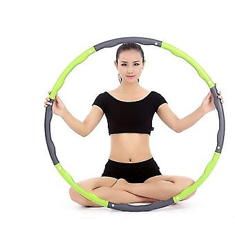 Green 1kg Adjustable Soft Weighted Hula Hoop Fitness Ring For Kids And Adult