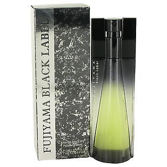 Fujiyama Black Label Eau De Toilette Spray By Succes De Paris 3.4 oz Eau De Toilette Spray